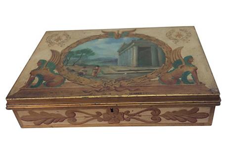 Tole Box w/ Classical Scene