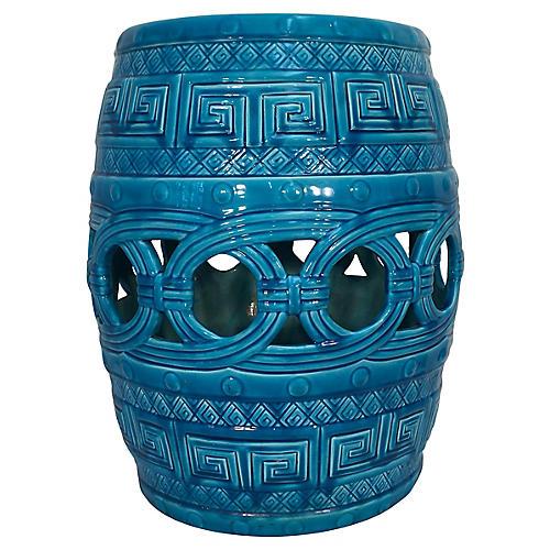 Minton Turquoise Garden Seat