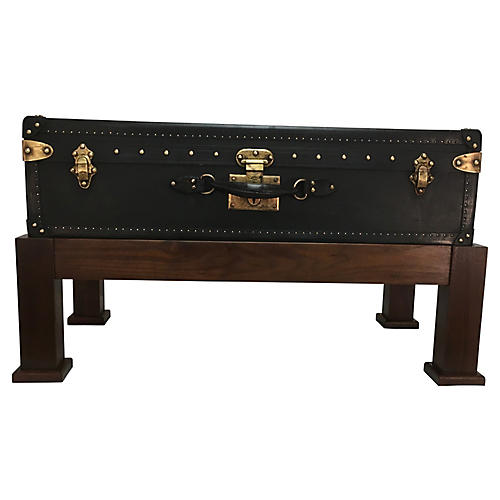Goyard Suitcase w/ Stand Coffeetable