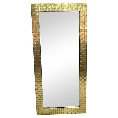 Chapman Woven Brass Mirror