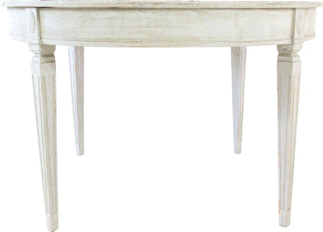 Round Gustavian-Style Dining Table