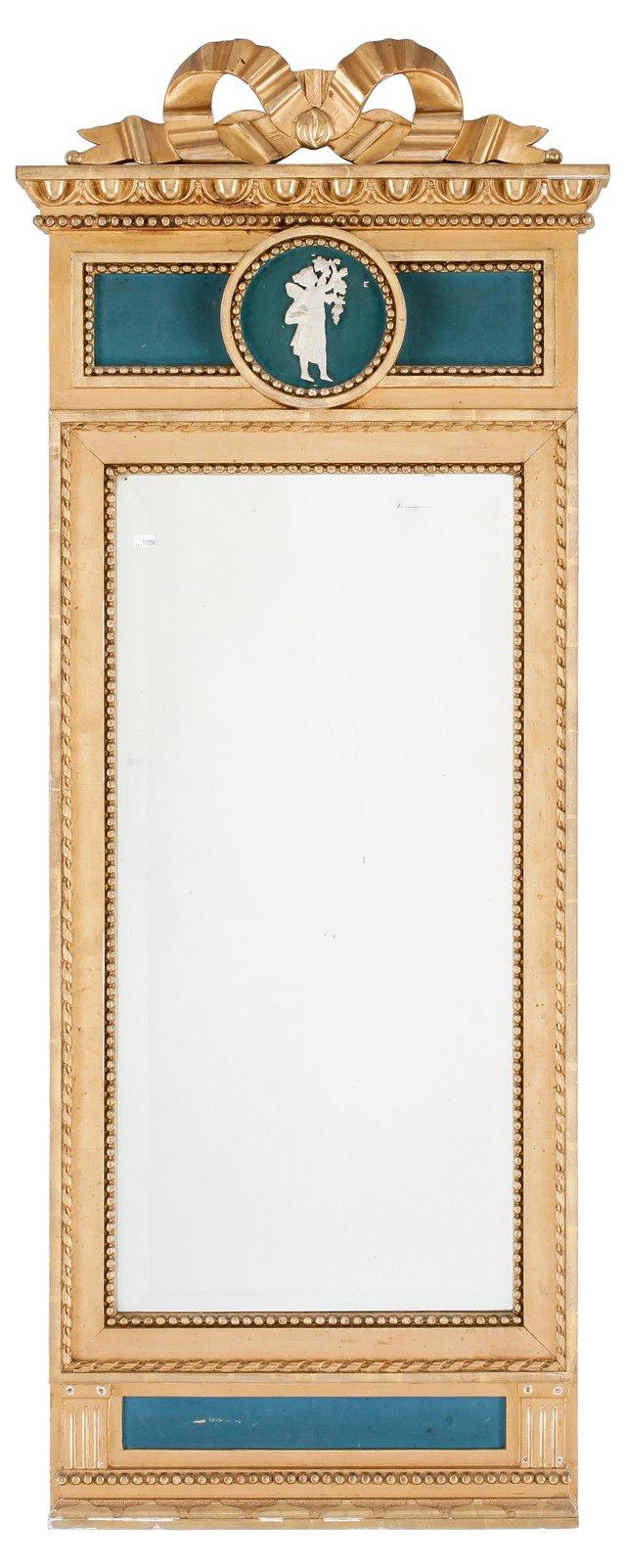 Gustavian Blue Mirror