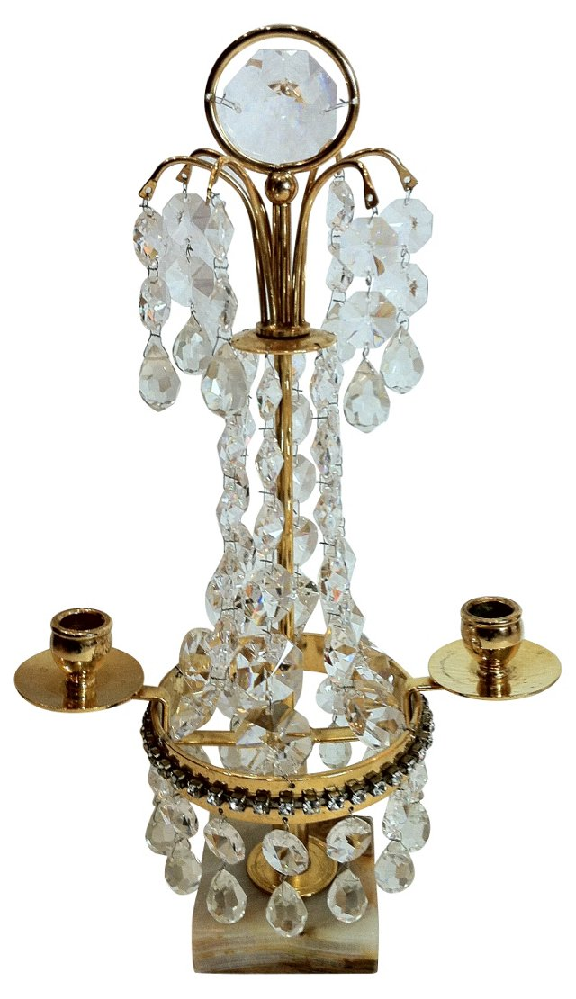 Gustavian-Style Table   Chandelier