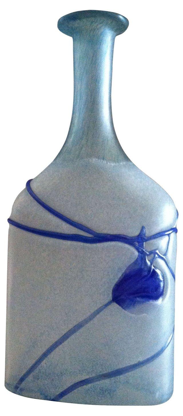 Bertil Vallien Frosted Art Glass Vase