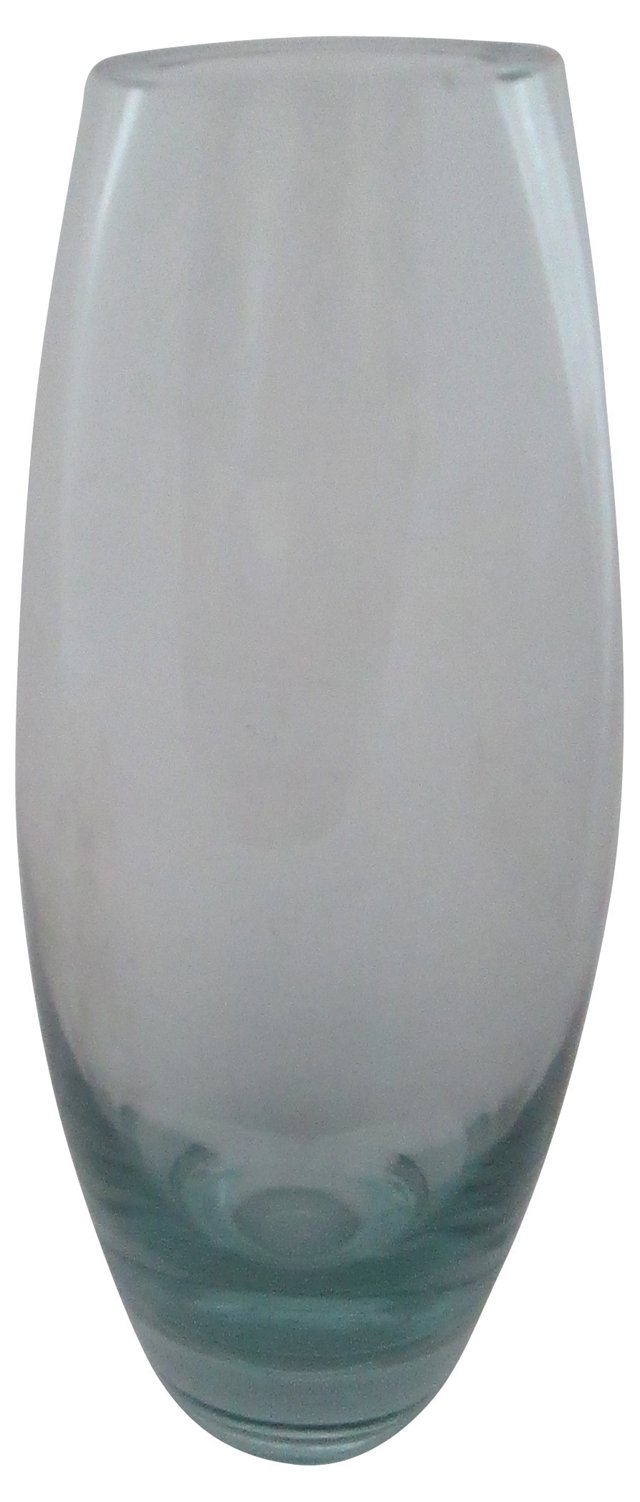 Per Lutken Blue Glass Vase