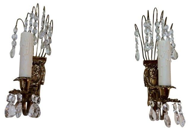Gustavian Chandelier Sconces, Pair
