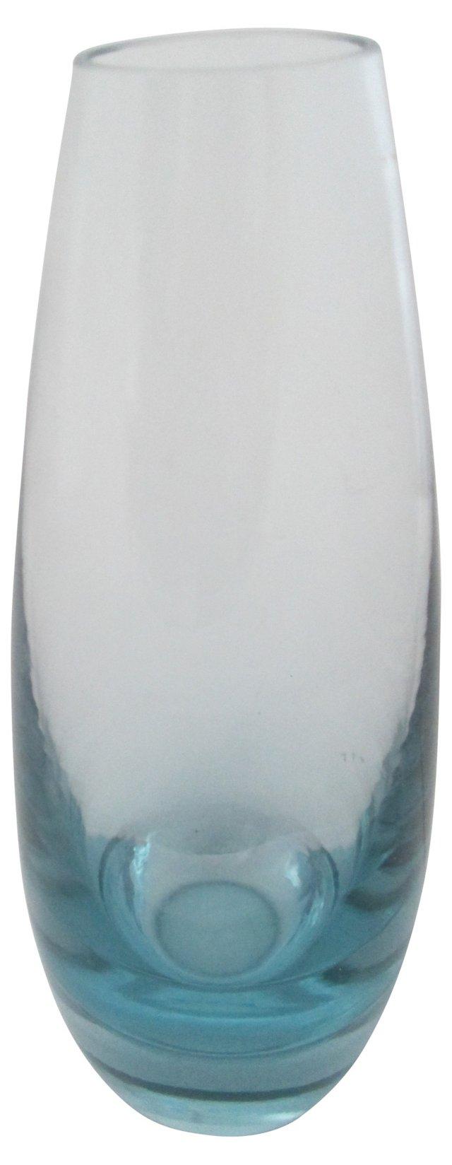 Danish Holmegaard Blue   Vase