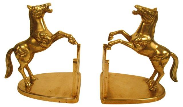 Horse Brass Bookends