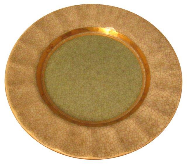 Danish Celadon Dish