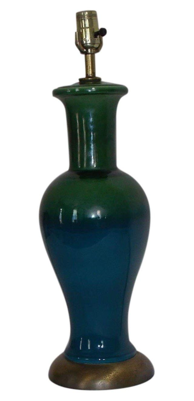 Danish Midcentury Drip Glaze Table Lamp