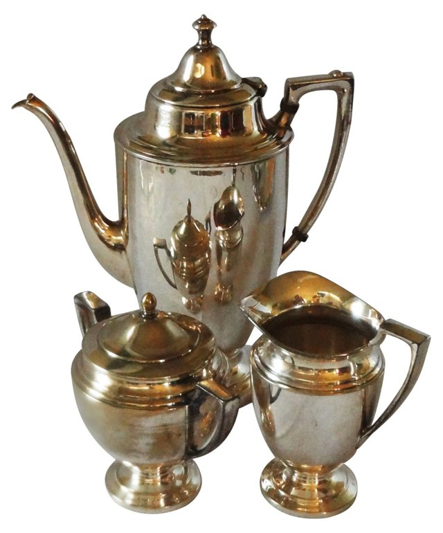 1950's Silver on Nickel Coffee Set