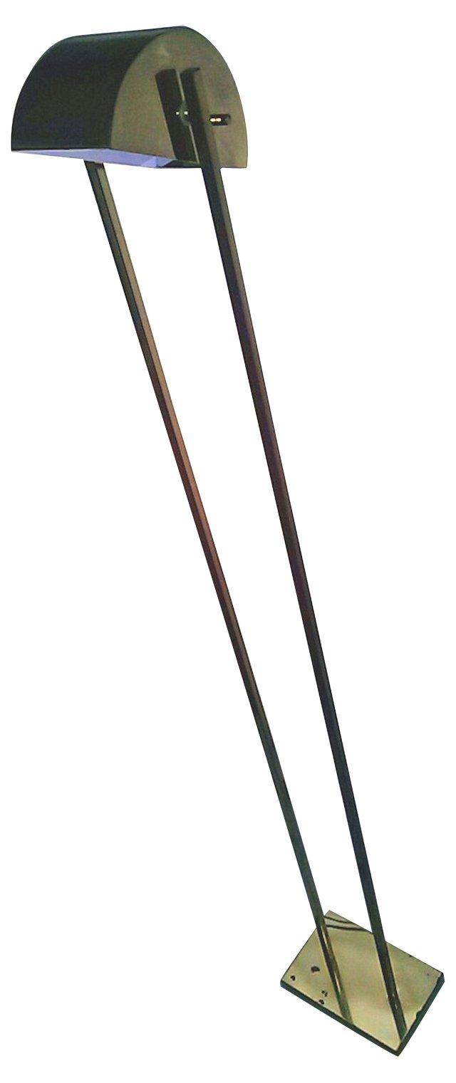 Mod Brass Floor Tilt Lamp