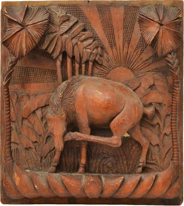 Hardwood Relief Horse Plaque