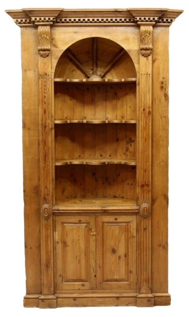Georgian-Style Corner Cabinet