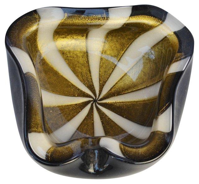 Murano Gold & Beige Ashtray