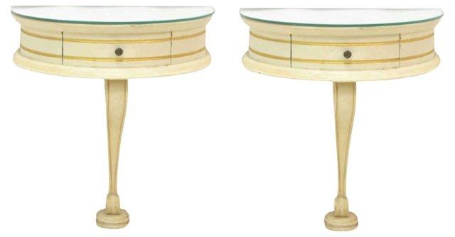 Louis XV-Style  Bracket Consoles, Pair