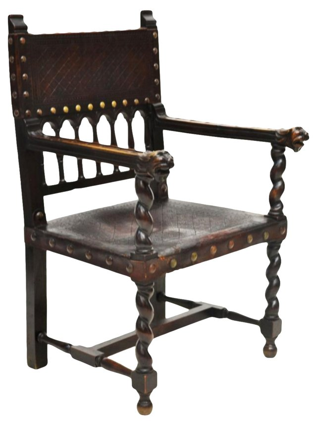 19th-C. Spanish Chair