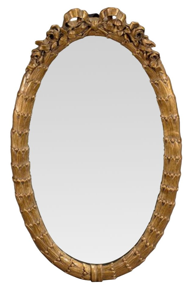 Louis XVI-Style Laurel Leaf Mirror