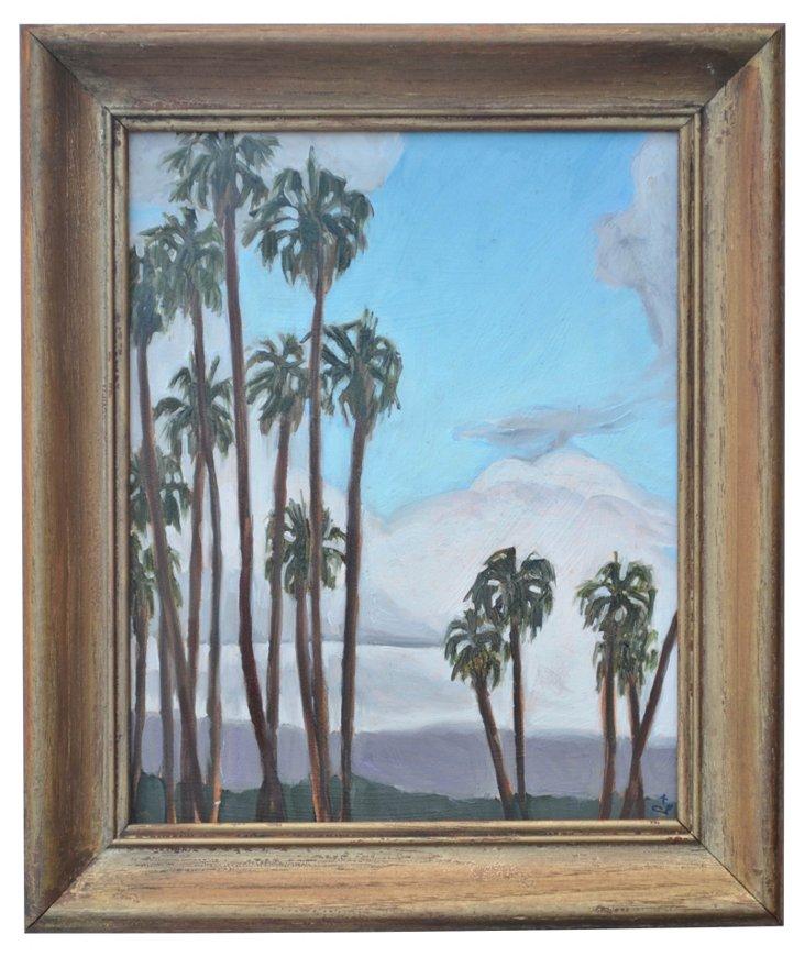 Palms and Winter Santa Barbara