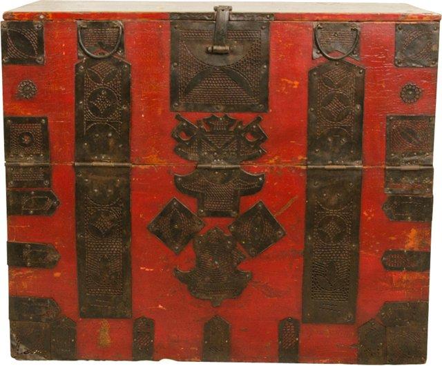19th-C. Ningbo Clothing Trunk