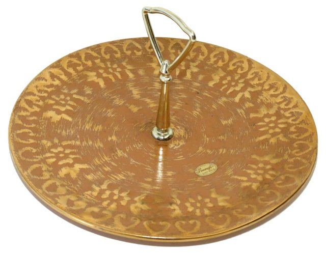 Stangl 22K Gold Serving Tray