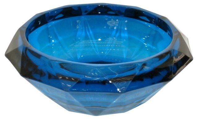 Blue Glass Ashtray