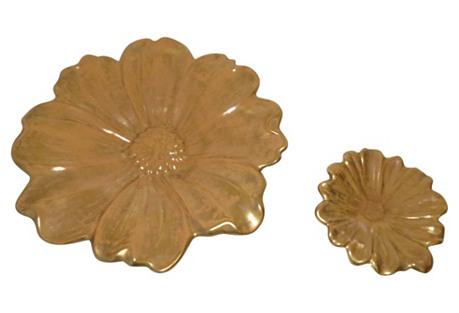 Stangl Floral Catchalls, Pair