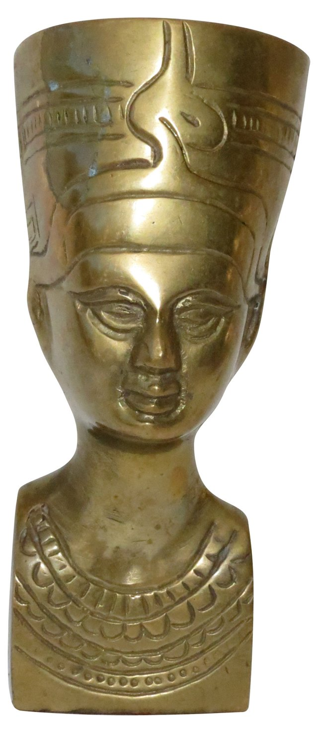 Brass Nefertiti Bust