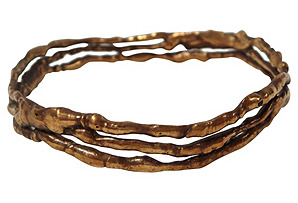 Brass Twig Artist-Made Bangle