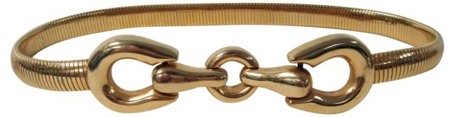 Hinged Buckle Stretch Belt