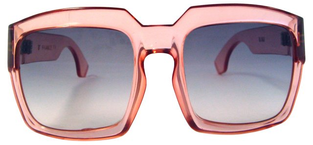 French  Translucent Pink Sunglasses