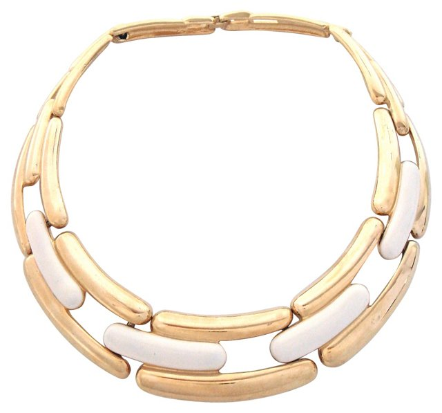Givenchy Enameled Collar Necklace