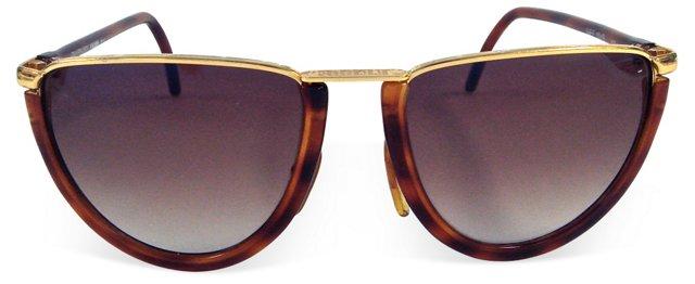 Ferre Faux-Tortoiseshell Sunglasses