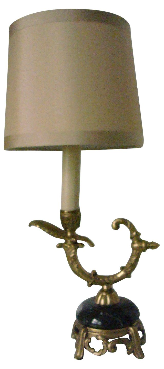 Gilt & Marble French-Style Lamp