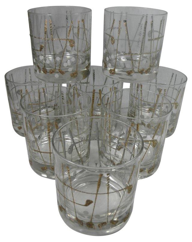 Georges Briard Golf Glasses, S/8