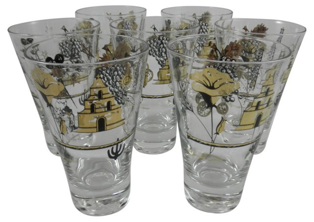 California Icon Glasses, Set of 7