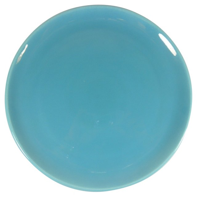 Turquoise Poppytrail Chop Plate