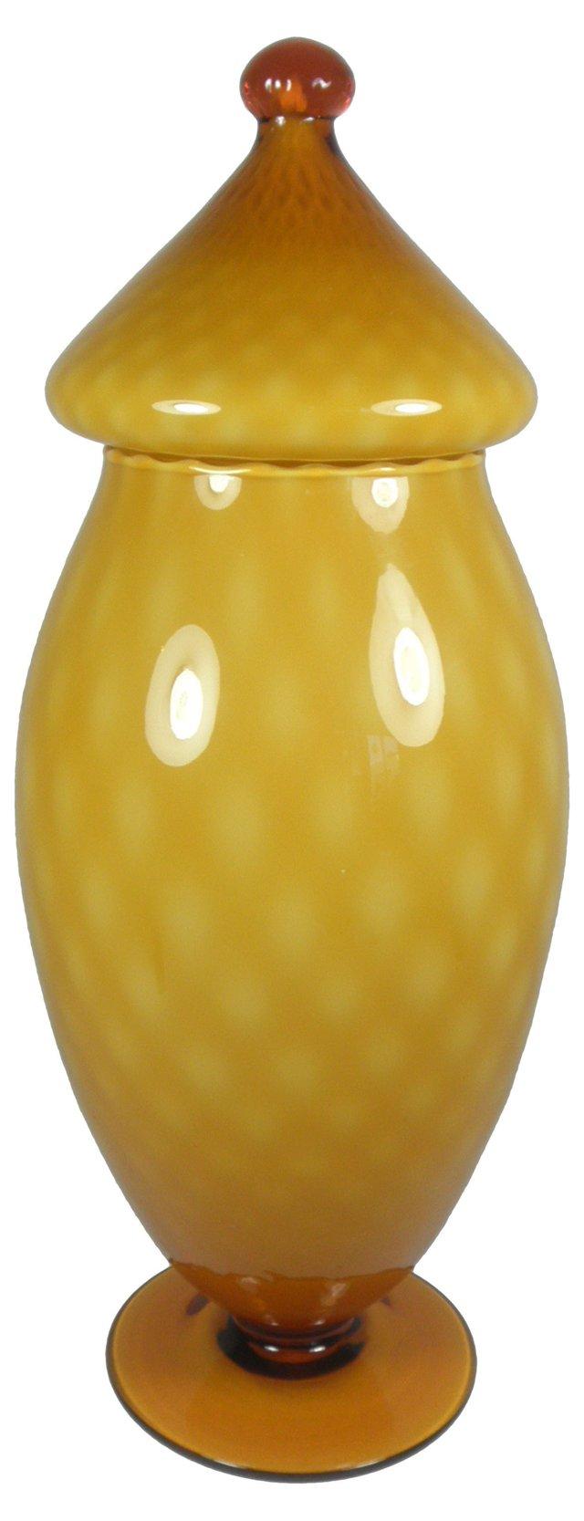 Italian Art Glass Lidded Jar