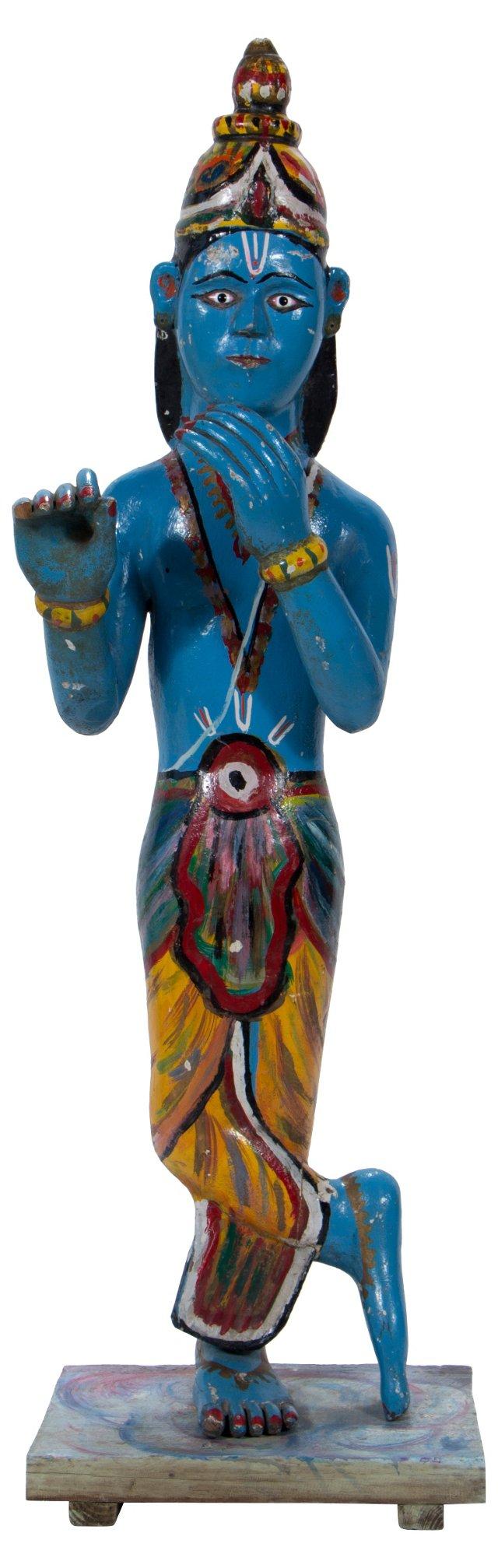 19th-C. Blue Krishna