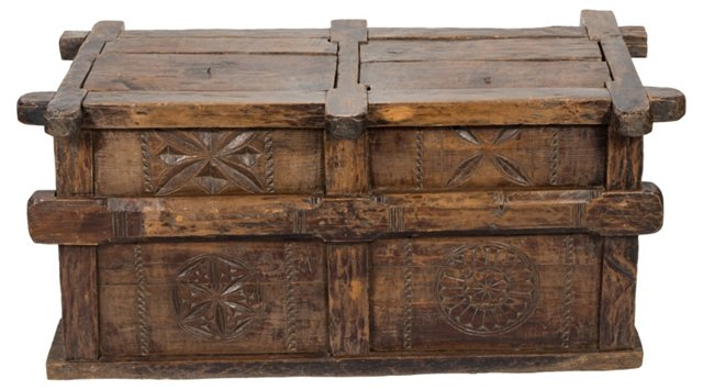 19th-C. Indian  Grain Chest