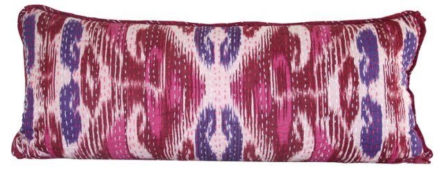 Indian Ikat Lumbar Pillow