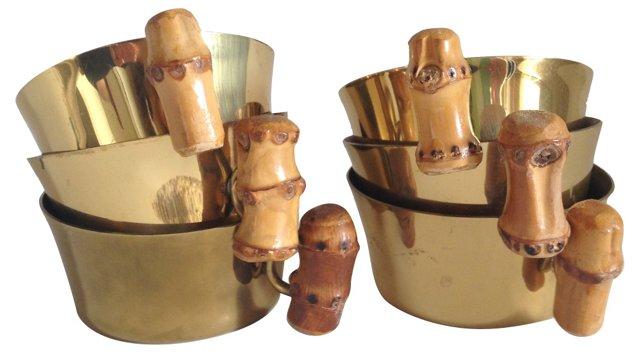 Brass Cups, S/6