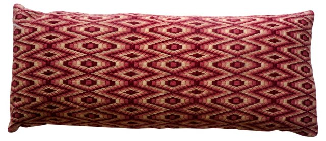 Rose-Colored Bargello Lumbar Pillow