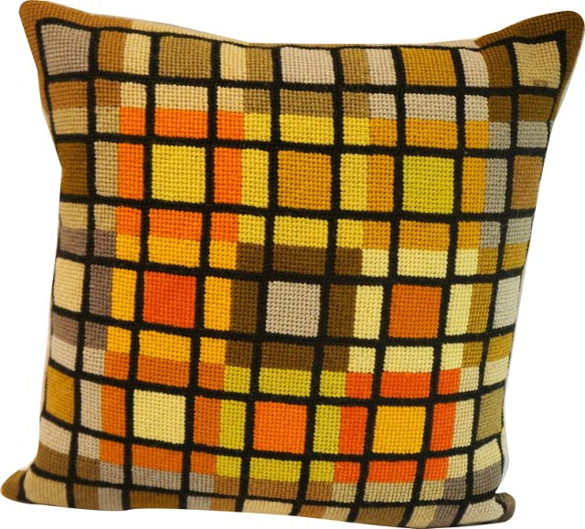 Groovy Grid Pillow