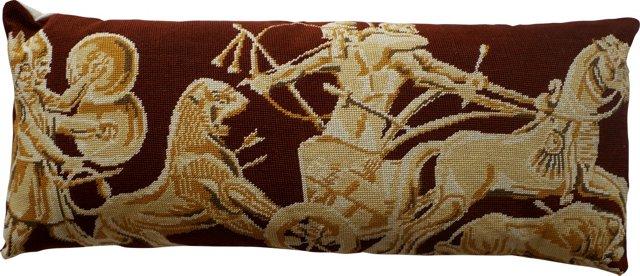 Classical Needlepoint Lumbar Pillow