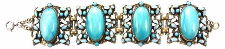 Czech Glass Turquoise Bracelet