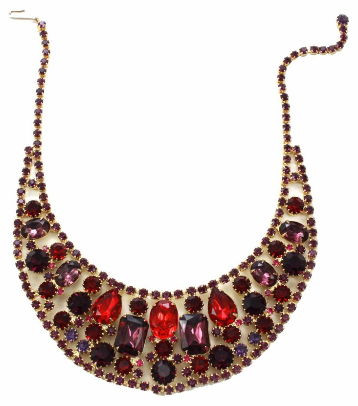 1950s Juliana Cluster Necklace