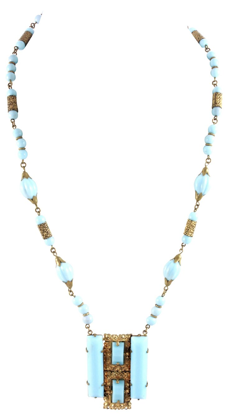 1930s Czech Turquoise Necklace