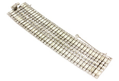Multi-Row Diamante Bracelet