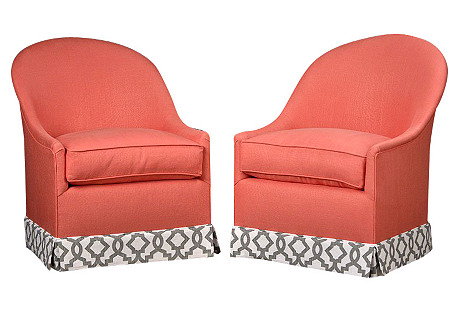 Pair of French Bedroom Chairs